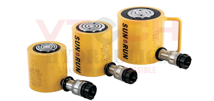 Single Acting Low height Hydraulic Jack-RSCS-Series